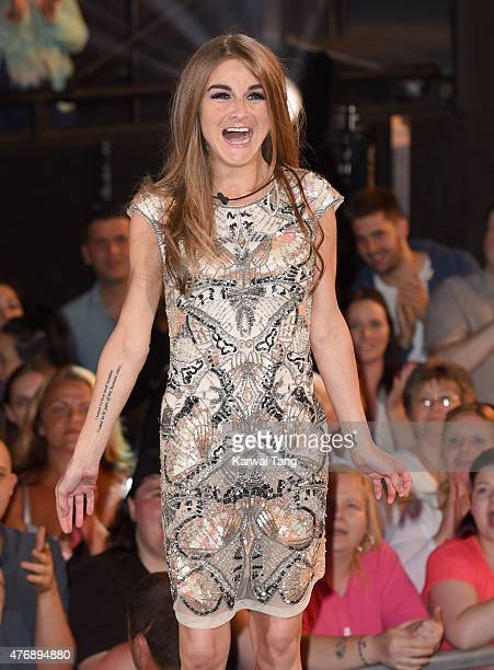 Nikki Grahame enters the Big brother house at Elstree Studios on June 12 2015 in Borehamwood England