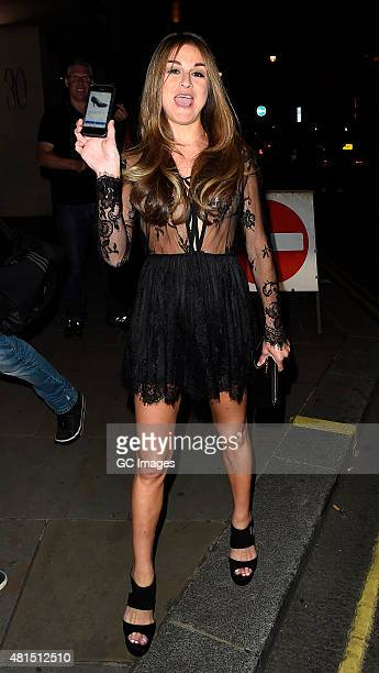 Nikki Graham leaves The Soho Sanctum Hotel after attending the Charity Stars supporters summer party NIkki showed photogrpahers her missing shoe that...