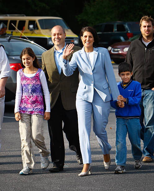 Nikki Haley, Republican candidate for governor, and her ...