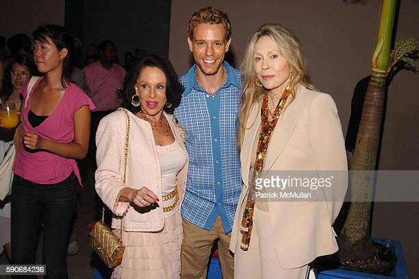 Nikki Haskell Adam Pascal and Faye Dunaway attend TRAVEL LEISURE Magazine's World's Best Awards 2005 Party at Skylight Studios on July 14 2005 in New...