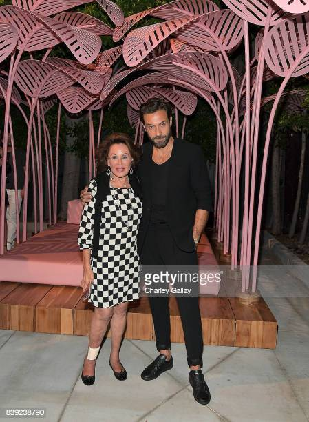 Nikki Haskell and artist Marc Ange attend LECLAIREUR LA and LALA Magazine Celebrate Le Refuge by Marc Ange at LECLAIREUR LA on August 24 2017 in West...