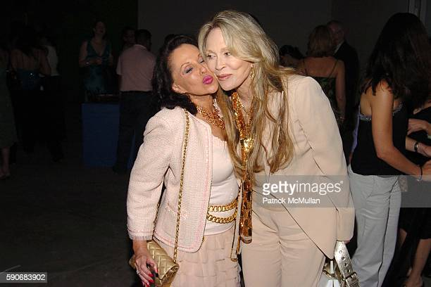 Nikki Haskell and Faye Dunaway attend TRAVEL LEISURE Magazine's World's Best Awards 2005 Party at Skylight Studios on July 14 2005 in New York City