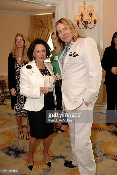 Nikki Haskell and Steven Cojocaru attend The Kickoff Luncheon for the Carousel of Hope at Beverly Hills Hotel on May 20 2008 in Beverly Hills CA