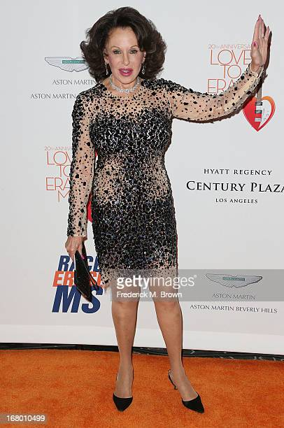 Nikki Haskell attends the 20th Annual Race to Erase MS Gala Love to Erase MS at the Hyatt Regency Century Plaza on May 3 2013 in Century City...