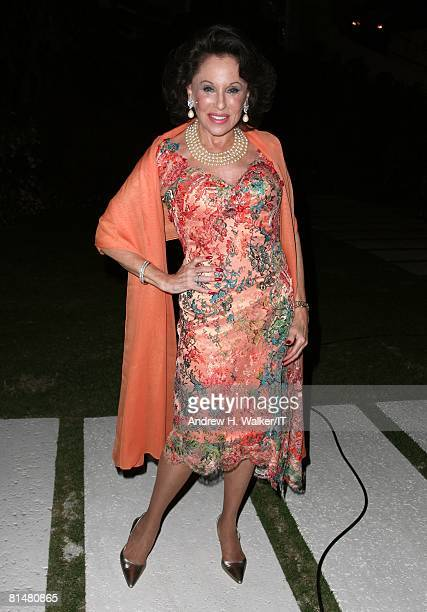 Nikki Haskell attends the Drinks Dinner and Disco Party the night before the wedding of Ivana Trump and Rossano Rubicondi at the MaraLago Club on...