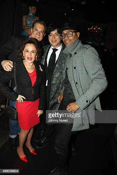 Nikki Haskell Jack Rich Milan Britton and Peter Paul celebrate Jack Rich's birthday at Avenue on November 19 in New York City