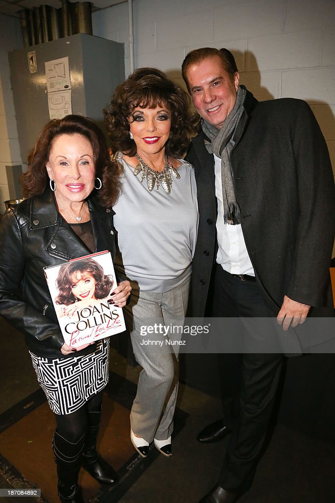 Nikki Haskell, Joan Collins and Jack Rich attend B.B. King Blues Club & Grill on November 5, 2013 in New York City.
