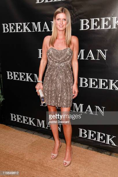 Nikki Hilton attends the Beekman Beer Garden Beach Club grand opening party on June 7, 2011 in New York City.