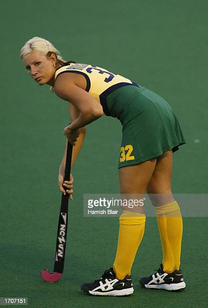Nikki Hudson for Australia looks on during Women's World Cup Hockey match between Australia and Japan held at the Perth Hockey Stadium in Perth...