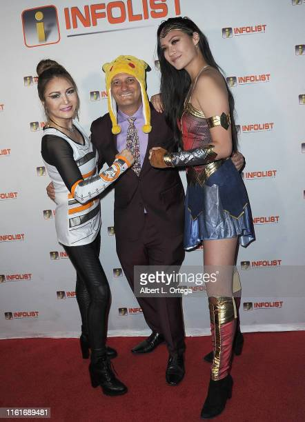 Nikki Julius Jeff Gund and Vivian But attend InfoListcom's PreComicCon Bash held at Wisdome Immersive Art Park on July 11 2019 in Los Angeles...