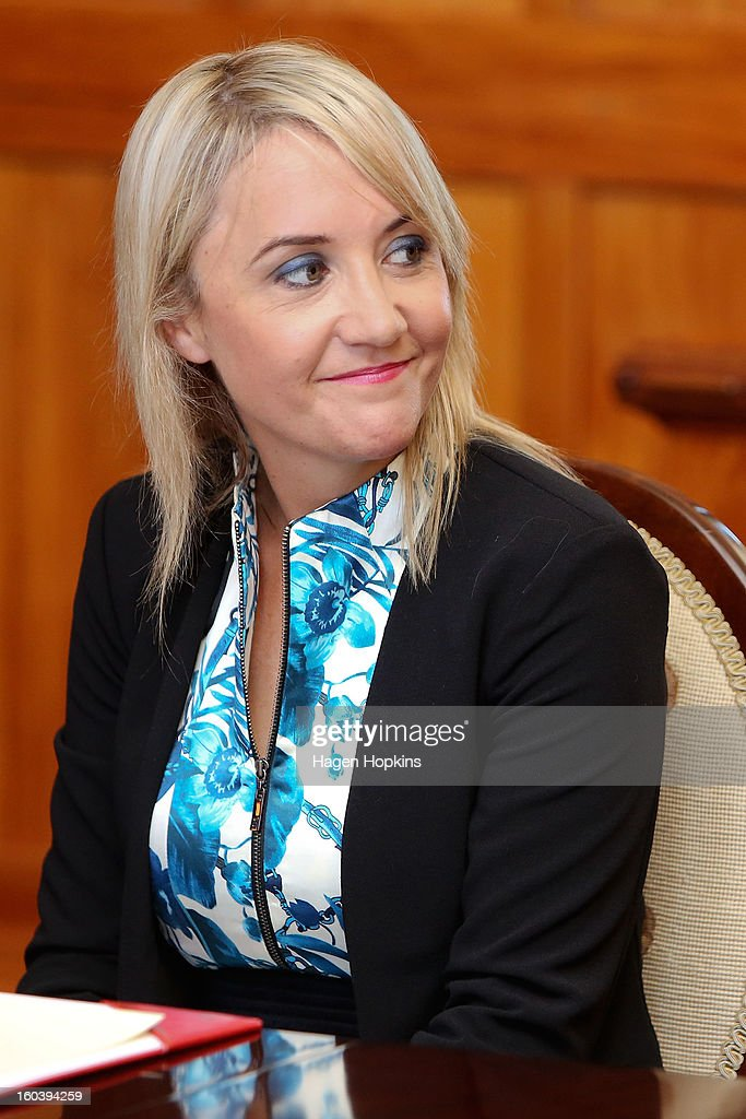 Nikki Kaye looks on during a swearing-in ceremony at Government House on January 31, 2013 in Wellington, New Zealand. After a recent Cabinet reshuffle by Prime Minister John Key, Dr Nick Smith was appointed Minister of Housing, Nikki Kaye was appointed Minister for Food Safety, Youth Affairs and Civil Defence while Michael Woodhouse was appointed as a Minister, outside of Cabinet, for Immigration and Veterans Affairs.