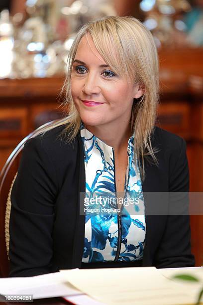 Nikki Kaye looks on during a swearingin ceremony at Government House on January 31 2013 in Wellington New Zealand After a recent Cabinet reshuffle by...