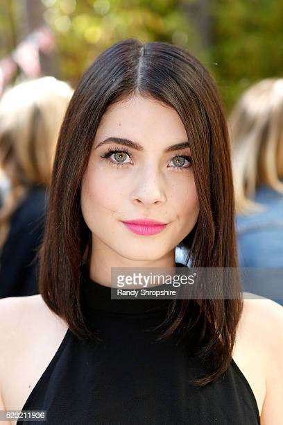 Nikki Koss attends the Villoid garden tea party hosted by Alexa Chung at the Hollywood Roosevelt Hotel on April 21 2016 in Hollywood California