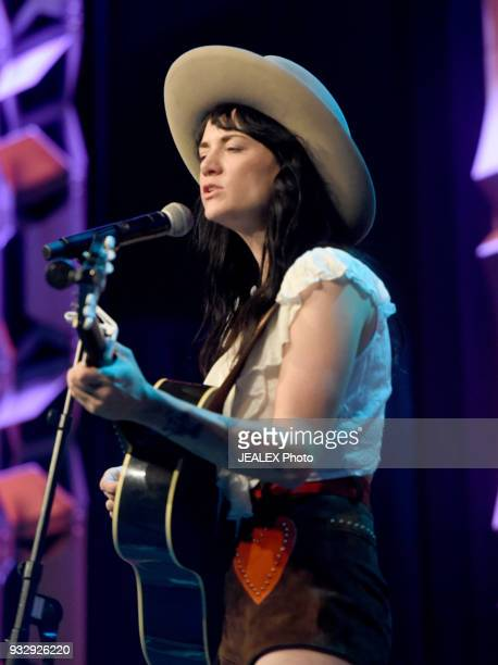 Nikki Lane performs at Radio Day Stage during SXSW at Radio Day Stage on March 16 2018 in Austin Texas