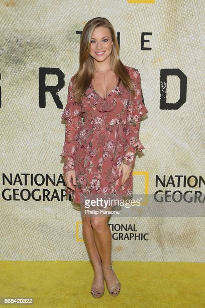 Nikki Leigh attends the premiere of National Geographic's 'The Long Road Home' at Royce Hall on October 30 2017 in Los Angeles California