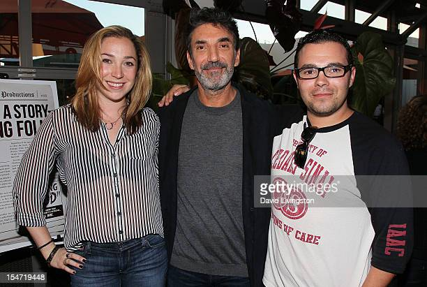 Nikki Lorre father writer Chuck Lorre and brother Asa Lorre attend a reception to celebrate the release of Chuck Lorre's 'What Doesn't Kill Us Makes...