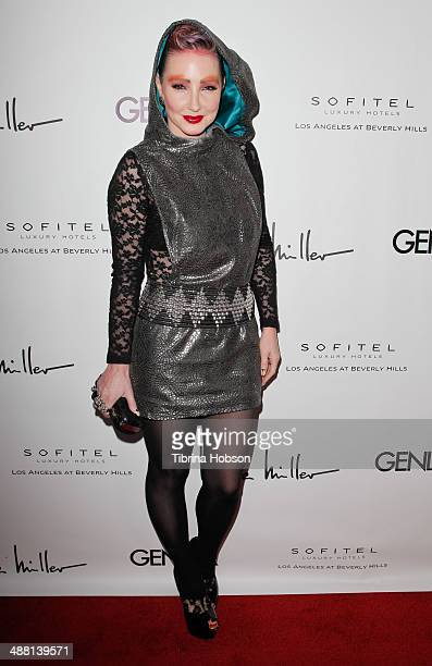 Nikki Lund attends the Genlux magazine issue release party at Sofitel Hotel on May 3 2014 in Los Angeles California