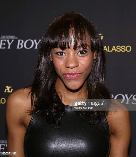 Nikki M James attends a special New York screening reception for 'Jersey Boys' hosted by Angelo Galasso at Angelo Galasso on June 2014 in New York...