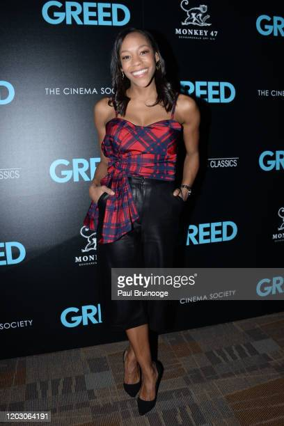 "Nikki M. James attends The Cinema Society & Monkey 47 Host A Special Screening Of Sony Pictures Classics' ""Greed"" at Cinepolis Chelsea on February..."