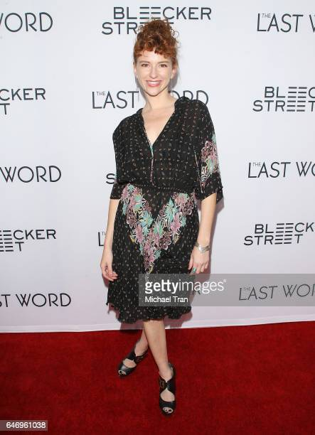 Nikki McCauley arrives at the Los Angeles premiere of The Last Word held at ArcLight Hollywood on March 1 2017 in Hollywood California