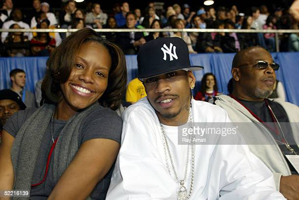 Nikki McCray and Allen Iverson attend the McDonald's NBA AllStar Celebrity Game at the Denver Convention Center in Denver Colorado on February 18...