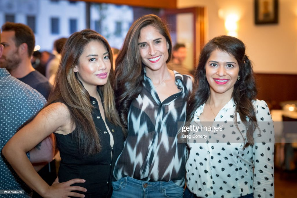 Nikki McKenzie, Shadee Malekafzali and Kosha Patel attend the 'Landing Up' World Premiere during 20th Annual Dances With Films at TCL Chinese 6 Theatres on June 7, 2017 in Hollywood, California.