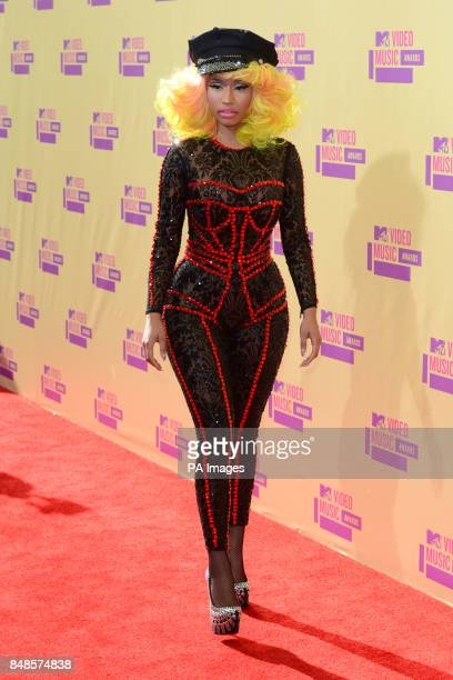 Nikki Minaj arriving at the MTV Video Music Awards at the Staples Centre Los Angeles