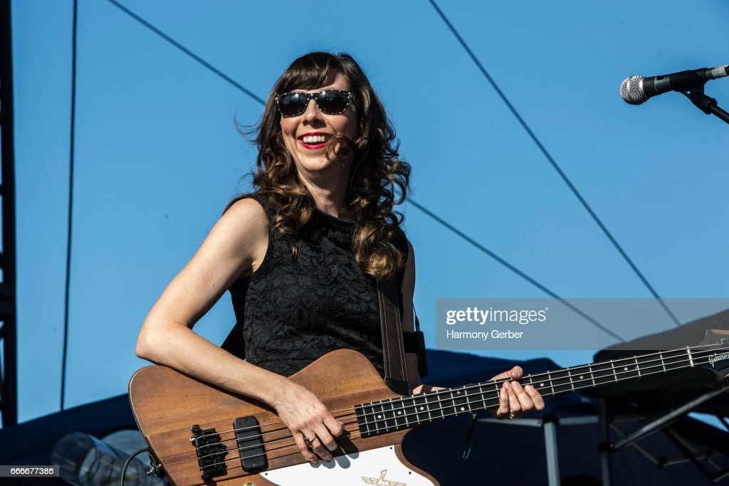 Nikki Monninger of the band Silversun Pickups performs during the When We Were Young Festival 2017 at The Observatory on April 8, 2017 in Santa Ana, California.