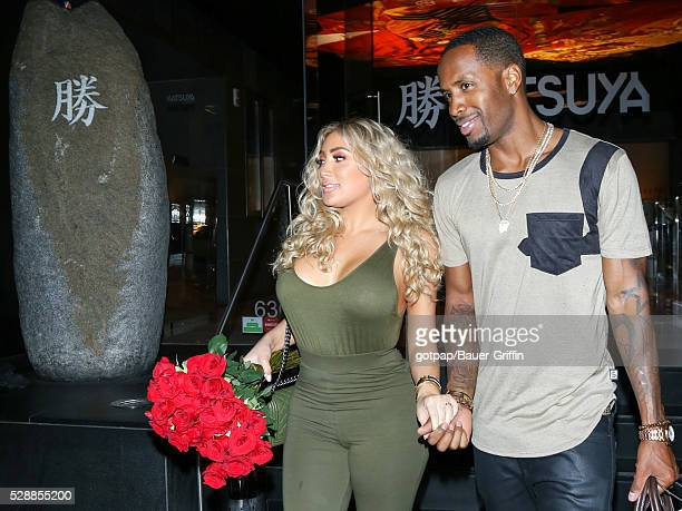 Nikki Mudarris and Safaree Samuels are seen on May 06 2016 in Los Angeles California