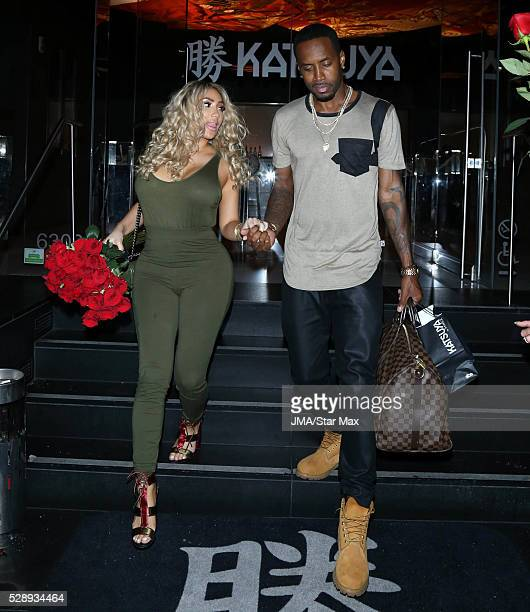 Nikki Mudarris and Safaree Samuels are seen on May 6 2016 in Los Angeles California