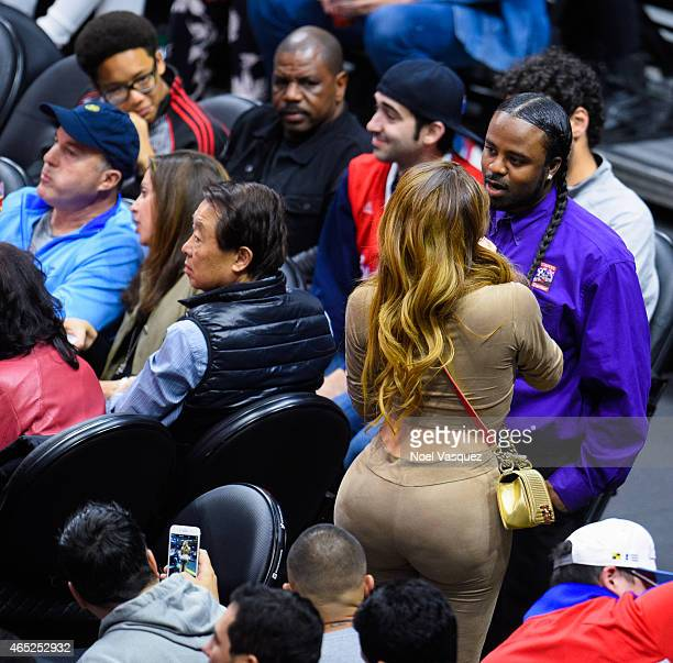 Nikki Mudarris attends a basketball game between the Portland Trail Blazers and the Los Angeles Clippers at Staples Center on March 4 2015 in Los...