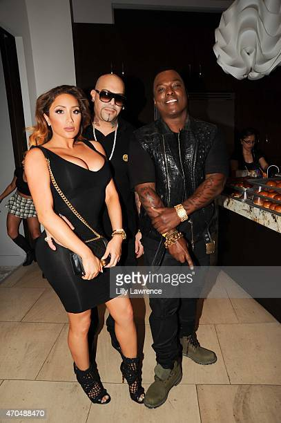 Nikki Mudarris Music producer Mally Mall and artist WonG attend the Steve Aoki Charity Fund Poker Tournament on April 18 2015 in Los Angeles...