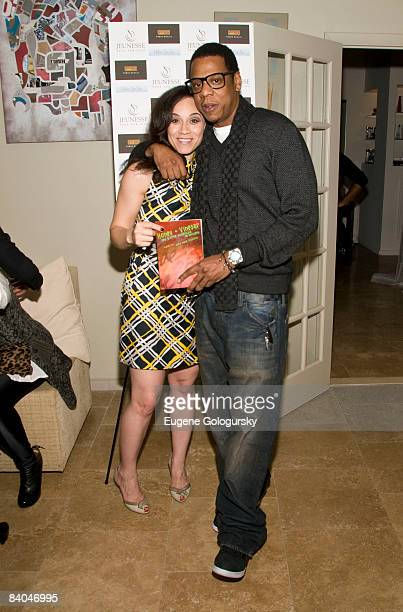 Nikki Nelson and Jay Z attend the Launch of Holm Spa at Jeunesse Spa / Fabio Scalia Salon on December 15 2008 in New York City