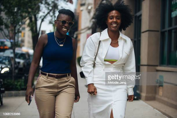 Nikki Ogunnaike and Nicole Martine Chapoteau at the Monse show during New York Fashion Week Spring/Summer 2019 on September 7 2018 in New York City