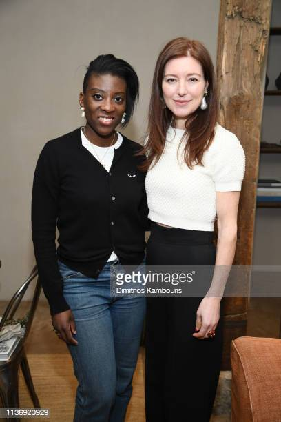 Nikki Ogunnaike and Rose Dergan attend Jenni Kayne Martha Stewart Dinner To Celebrate The Launch Of Pacific Natural on March 19 2019 in New York City