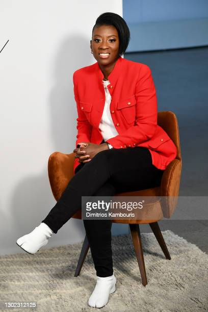 Nikki Ogunnaike speaks at NYFW The Talks during New York Fashion Week: The Shows February 2021 at Spring Studios on February 15, 2021 in New York...