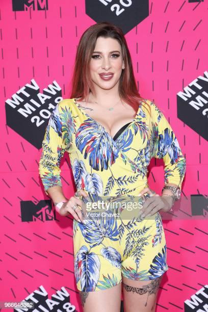 Nikki Olin of Acapulco Shore attends the MTV MIAW Awards 2018 at Arena Ciudad de Mexico on June 2 2018 in Mexico City Mexico