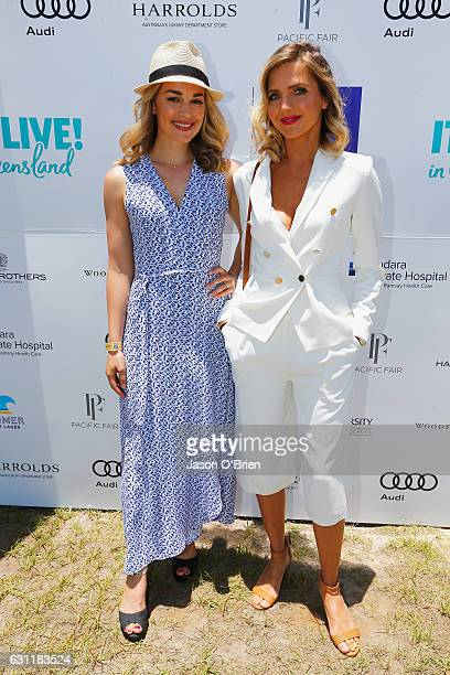 Nikki Osbourne and Laura Gordon pictured at the Magic Millions Polo Event on January 8 2017 in Gold Coast Australia