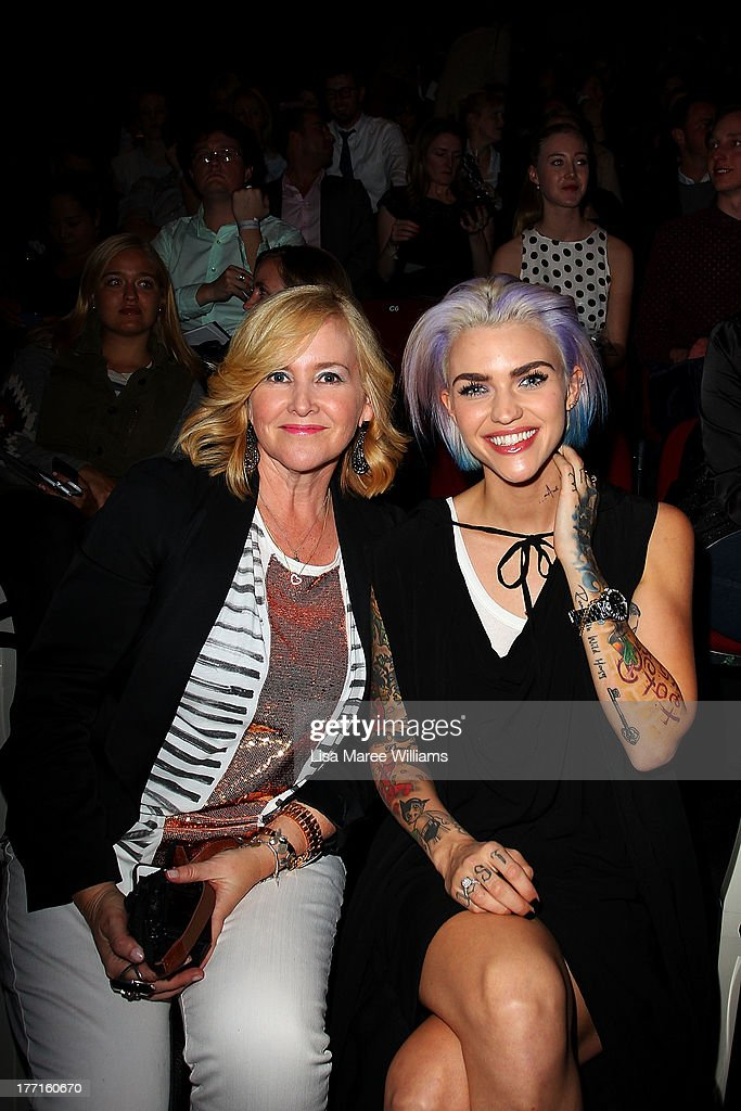 Nikki Parkinson and Ruby Rose attend the General Pants show during Mercedes-Benz Fashion Festival Sydney 2013 at Sydney Town Hall on August 21, 2013 in Sydney, Australia.