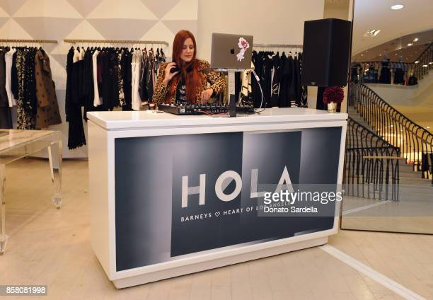 Nikki Pennie attends a Cocktail Event in support of HOLA Heart of Los Angeles hosted by Barneys New York at Barneys New York Beverly Hills on October...