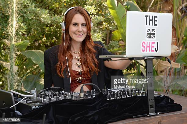 Nikki Pennie attends the Official HM Loves Coachella Party at the Parker Palm Springs on April 10 2015 in Palm Springs California