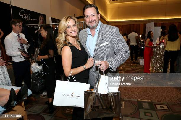 Nikki Pesusich and Carey Warren of Coterie Media attend the Daytime Emmy Awards PreAwards Networking Party/Gift Lounge at Pasadena Convention Center...