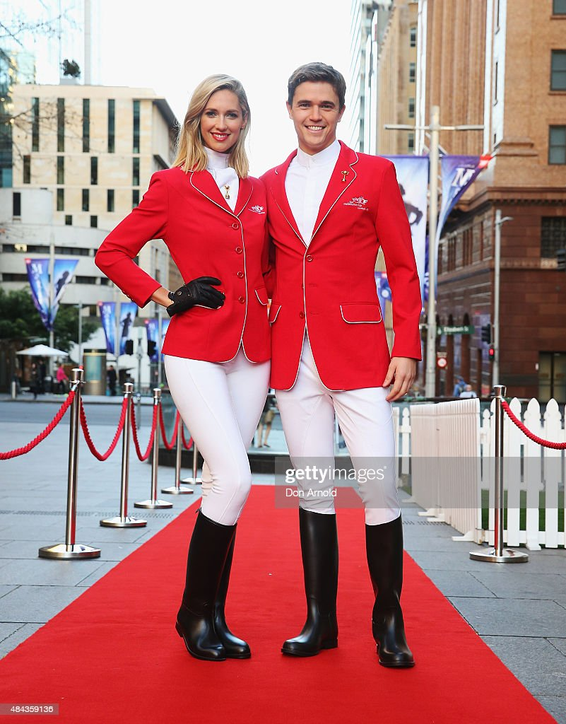 Nic Westaway And Nikki Phillips Bring The Melbourne Cup To Martin Place : News Photo