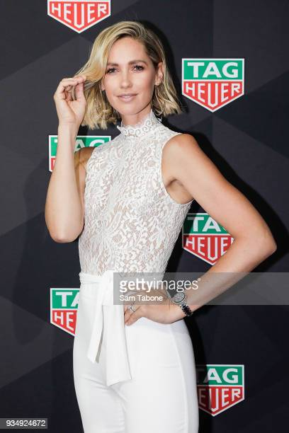 Nikki Phillips attends the TAG Heuer Grand Prix Party on March 20 2018 in Melbourne Australia