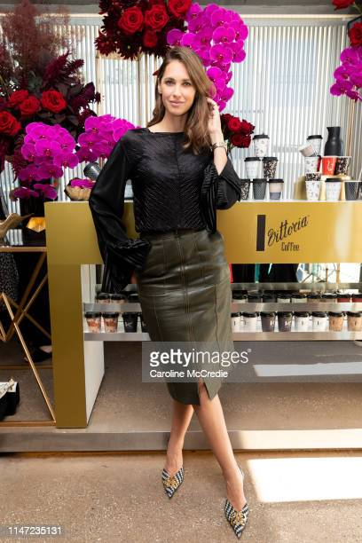 Nikki Phillips during the Vittoria Coffee 2019 Fashion Series Launch at Icebergs Dining Room & Bar on May 06, 2019 in Sydney, Australia.