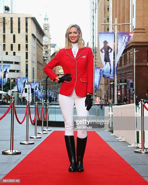 Nikki Phillips poses at Martin Place on August 18 2015 in Sydney Australia
