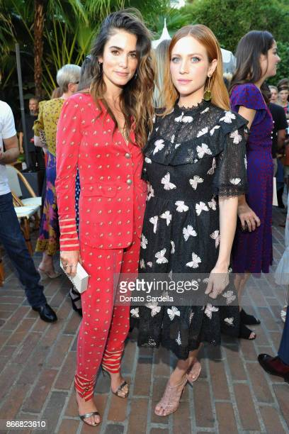 NIkki Reed and Brittany Snow attend CFDA/Vogue Fashion Fund Show and Tea at Chateau Marmont at Chateau Marmont on October 25 2017 in Los Angeles...