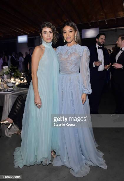 Nikki Reed and Gina Rodriguez attend the 2019 Baby2Baby Gala presented by Paul Mitchell on November 09 2019 in Los Angeles California