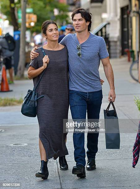 Nikki Reed and Ian Somerhalder are seen on September 21 2016 in New York City