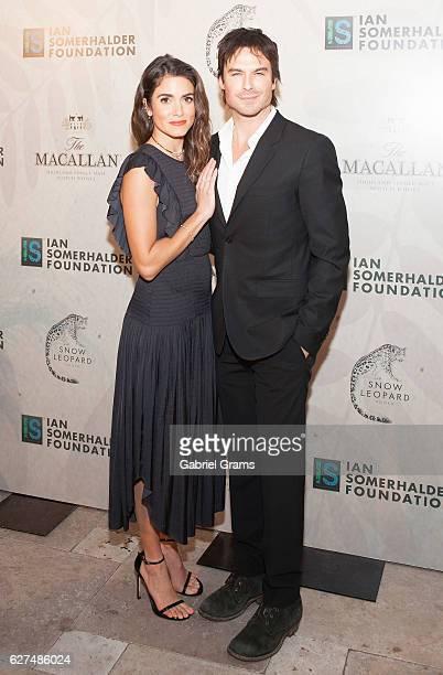 Nikki Reed and Ian Somerhalder attend 2016 Ian Somerhalder Foundation Benefit Gala at Galleria Marchetti on December 3 2016 in Chicago Illinois